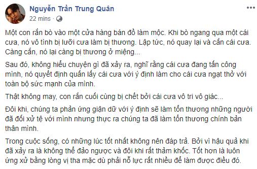 Giữa lúc Denis Đặng vướng vào lùm xùm đạo nhái ý tưởng, Nguyễn Trần Trung Quân lại có chia sẻ đầy ẩn ý - Ảnh 1.