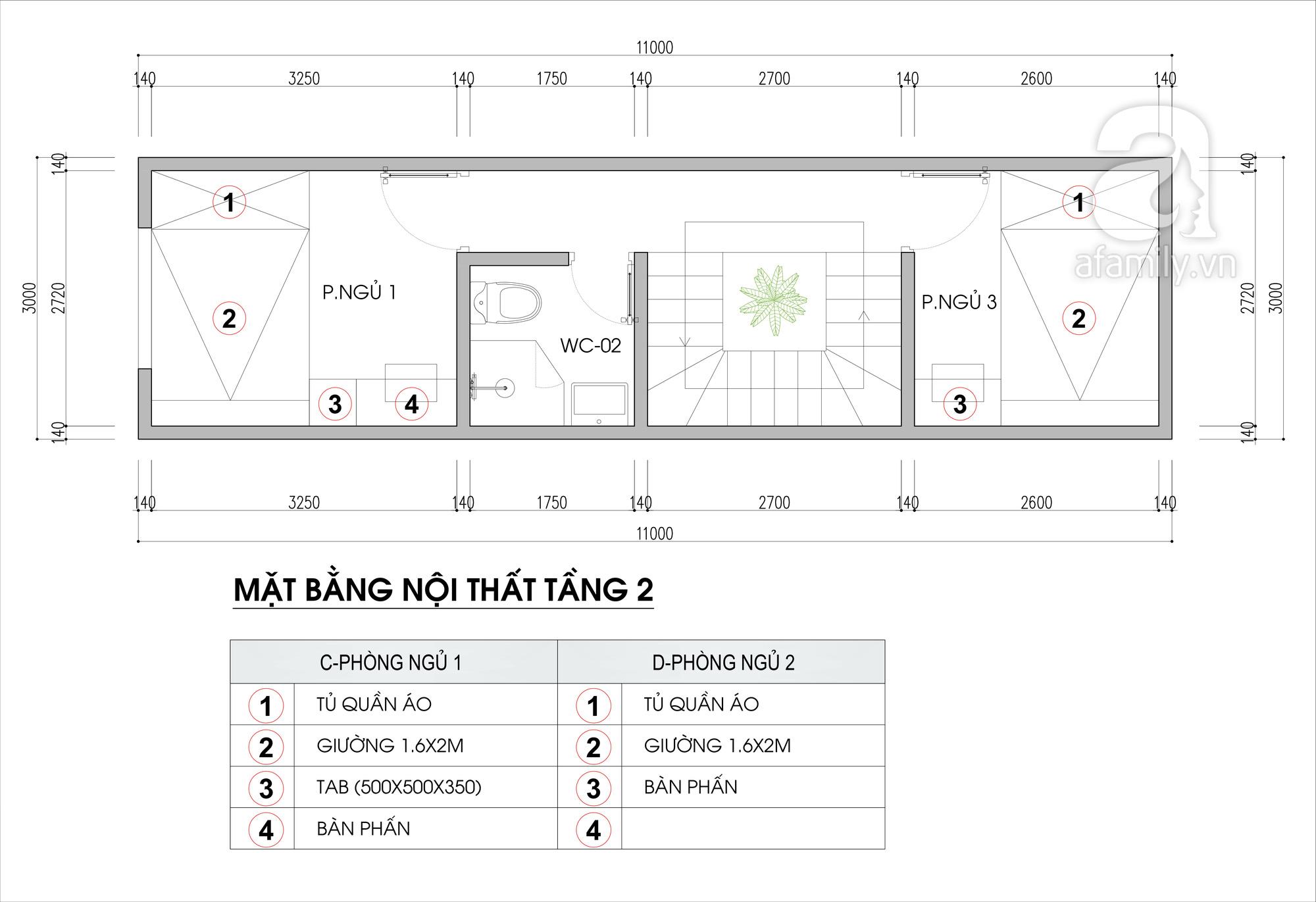 Tư vấn thiết kế nhà ở gi đình có đông thành viên với diện tích (3x10m), chi phí khoảng 670 triệu đồng - Ảnh 3.