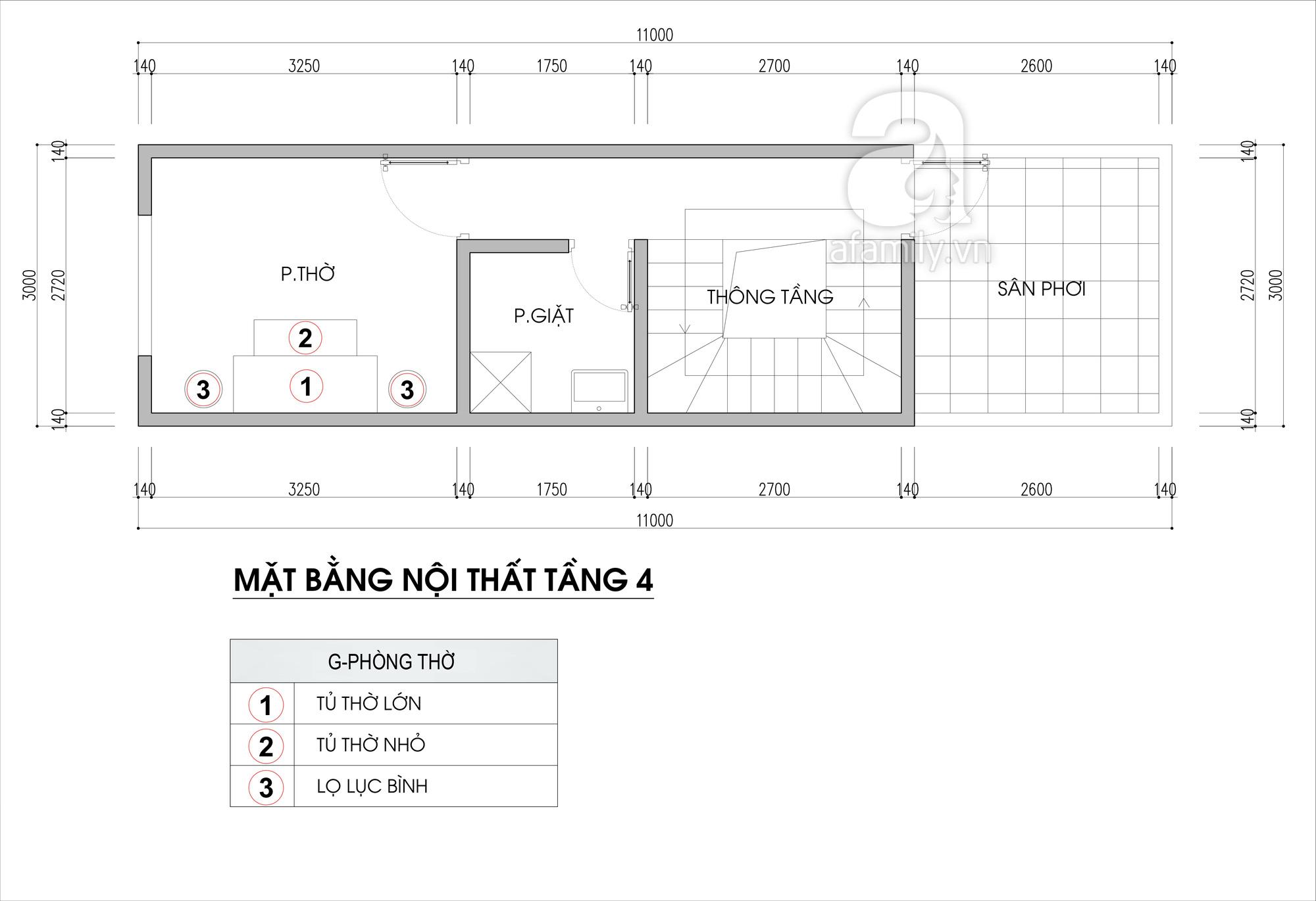 Tư vấn thiết kế nhà ở gia đình có đông thành viên với diện tích (3x10m), chi phí khoảng 670 triệu đồng - Ảnh 5.