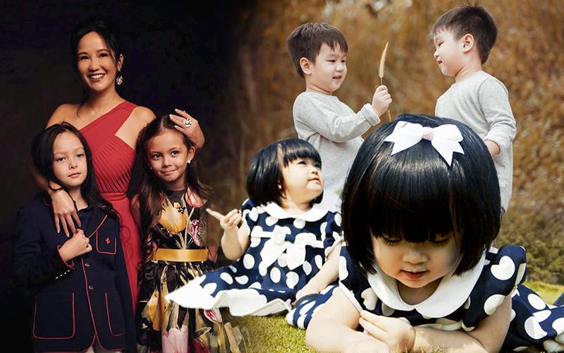 3 cặp sinh đôi nhà sao Việt nổi như cồn trên mạng xã hội: Bé con lai đã lớn phổng phao như thiếu nữ, cùng bố mẹ sống đầy trải nghiệm nơi trời Tây