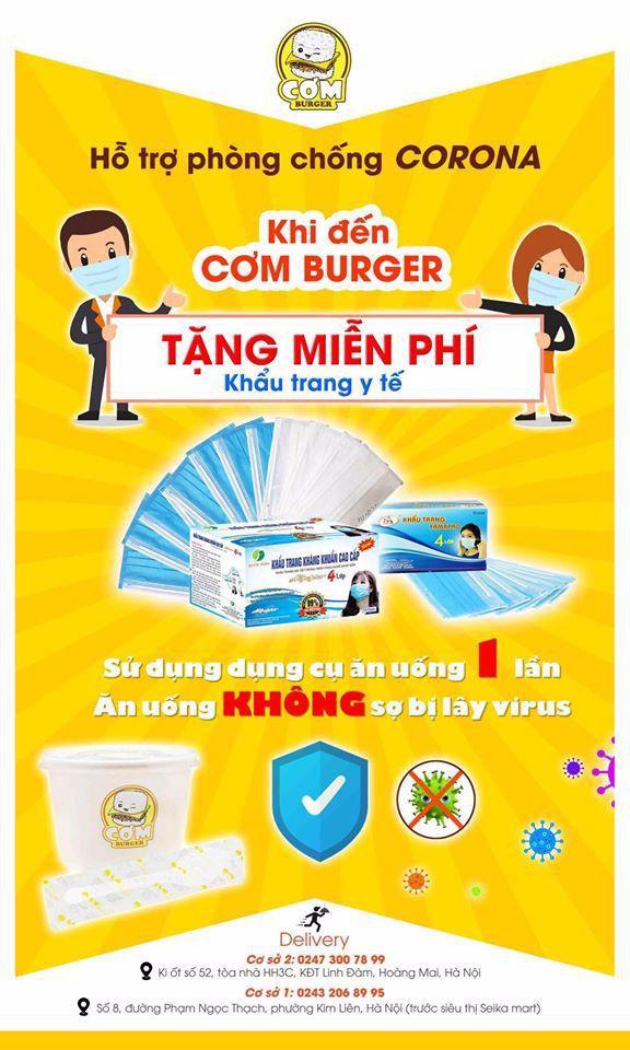 Thương hiệu Hàn Quốc Cơm Burger thực hiện chuỗi hành động thiết thực phòng dịch Corona - Ảnh 1.