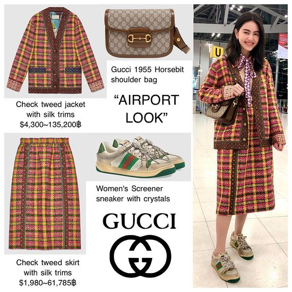 Nàng thơ của Sơn Tùng M-TP và cô em quốc dân IU lên đồ cả trăm triệu chỉ để ra sân bay trước thềm show Gucci - Ảnh 3.