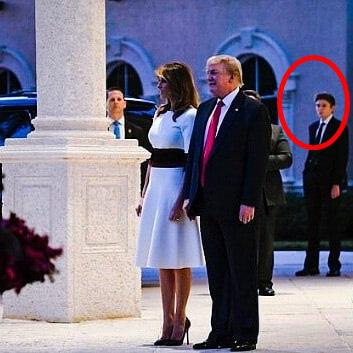 Quý tử nhà Trump lại gây thương nhớ với vẻ đẹp cùng khí chất hơn người, dù chỉ xuất hiện thấp thoáng cũng thu hút mọi ánh nhìn - Ảnh 2.