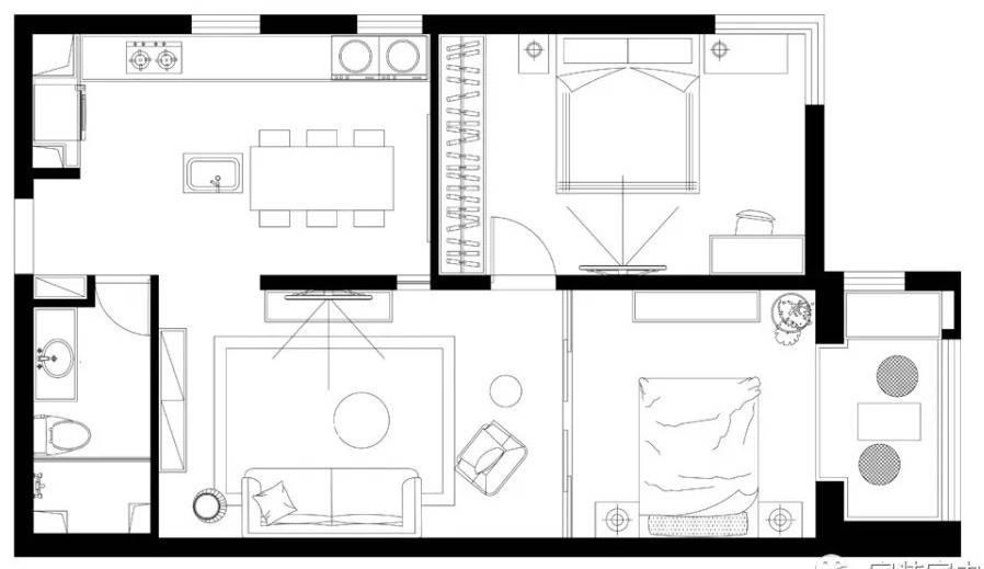 Cải tạo căn ký túc xá cũ rộng 80m2 thành không gian sống thoải mái cho gia đình trẻ - Ảnh 2.