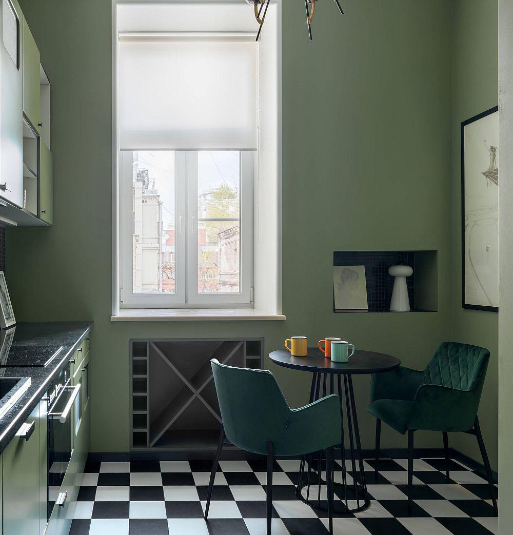 Những tông xanh tối màu tuyệt đẹp cho căn bếp hiện đại: sạch, nổi bật và sang trọng khi kết hợp khéo léo với tông trắng và ánh sáng đèn trang trí - Ảnh 9.
