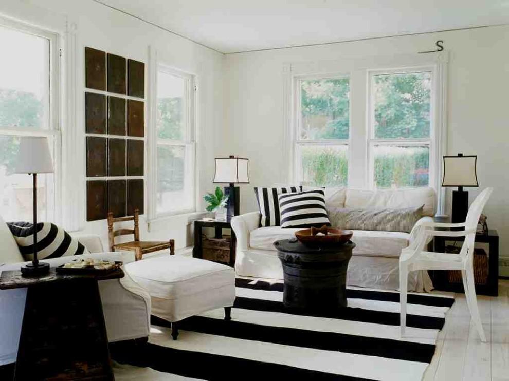 10 gợi ý trang trí phòng khách với cặp đôi đen - trắng hoàn hảo