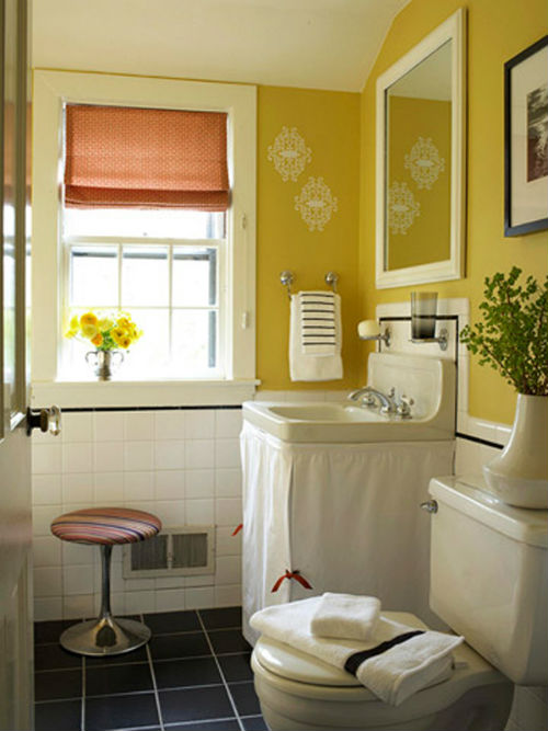 Kỹ thuật trang trí phòng tắm nhỏ