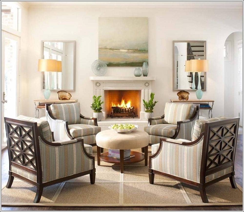 Những phòng khách lãng mạn, đầy lôi cuốn với phong cách đồng quê
