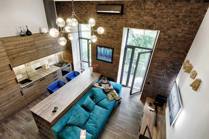 Chỉ nhờ 1 bí quyết, căn phòng 35m² trở thành căn hộ nhỏ có không gian thoáng đãng và lôi cuốn đến khó tin - Ảnh 2.