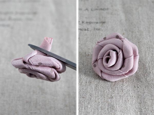 Xinh yêu hoa hồng cuộn từ ruy băng