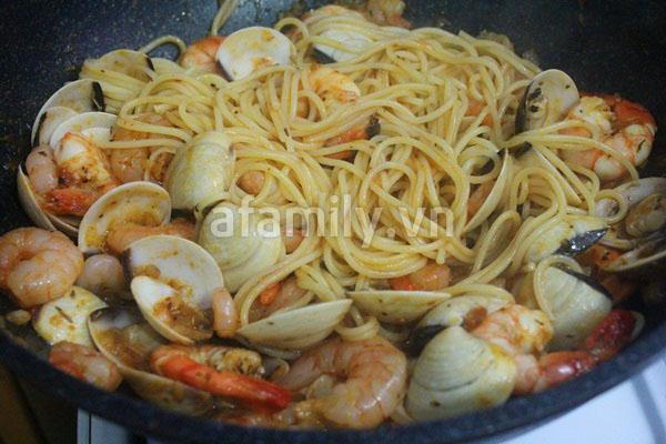 Mỳ Ý hải sản ngon chưa từng thấy!