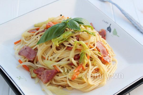 Ăn sáng ngon với mỳ Ý siêu tốc