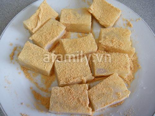 Dùng bột sắn dây làm bánh Kuzumochi từ Nhật