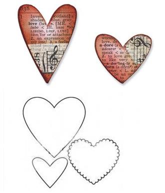 Giản dị, thanh nhã tấm thiệp trái tim xinh