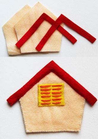 Làm giá treo chìa khóa hình ngôi nhà đáng yêu 4