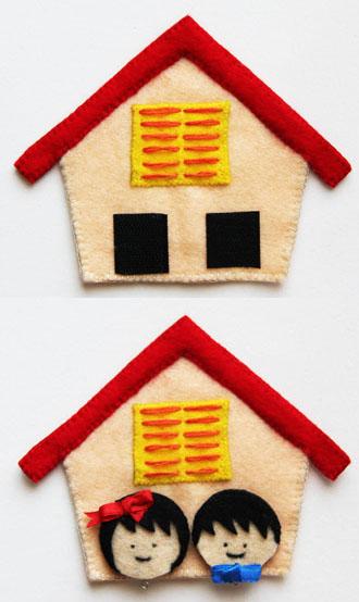 Làm giá treo chìa khóa hình ngôi nhà đáng yêu 5