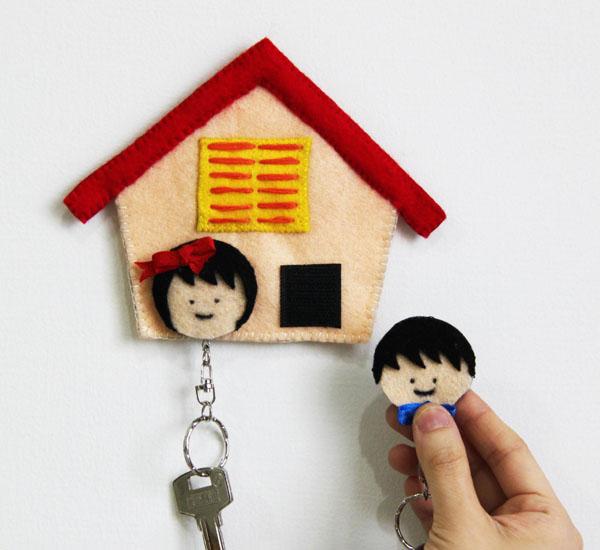 Làm giá treo chìa khóa hình ngôi nhà đáng yêu 6