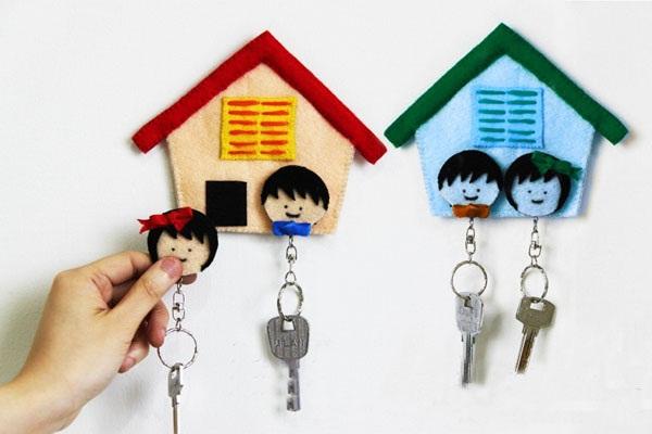 Làm giá treo chìa khóa hình ngôi nhà đáng yêu 7