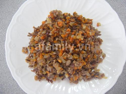 Bánh nếp nhân thịt ngon miệng, đẹp mắt, dễ làm