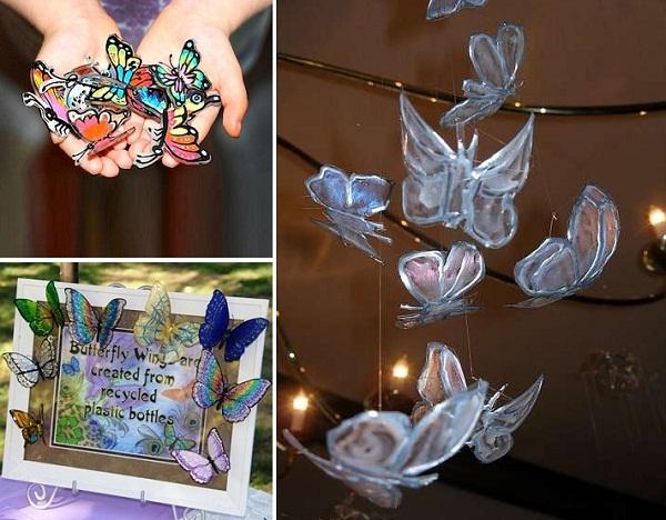 Cánh bướm xinh xắn tái chế từ vỏ chai nhựa 7