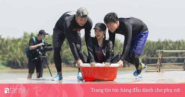 Running Man phiên bản Việt: ''Công chúa'' Minh Hằng vừa xuất hiện đã bị ngã chổng vó xuống nước
