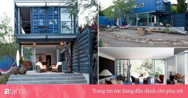 Độc đáo với thiết kế ngôi nhà 128m² nằm gọn lỏn trong 4 chiếc container bỏ hoang