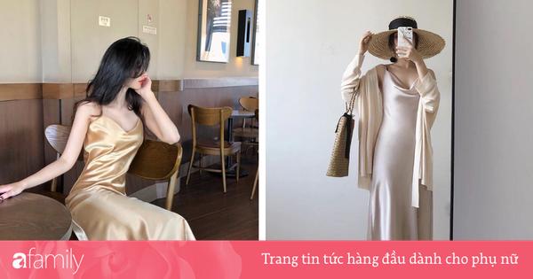 Mát mẻ, sang chảnh lại rất ''lúng liếng'', váy lụa hai dây ắt là thứ bạn nên mua hè này