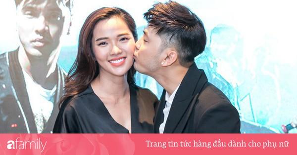 Ưng Hoàng Phúc tình cảm ôm hôn vợ bầu trong họp báo