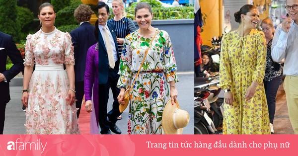 Có một vị Công chúa Hoàng gia rất thích diện đồ họa tiết, thậm chí trong chuyến thăm Việt Nam không ngày nào không mặc