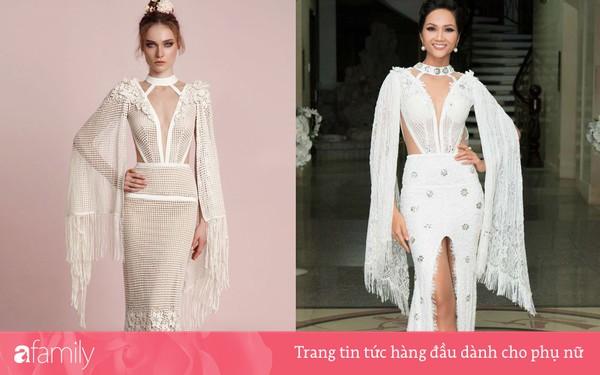 Thương hiệu váy cưới nước ngoài ''tố'' NTK Việt đạo nhái, nhưng tội nhất là H''Hen Niê khi bị lôi vào lùm xùm này