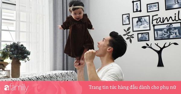 Quốc Nghiệp tiếp tục gây choáng khi khoe clip làm xiếc với con gái 6 tháng tuổi