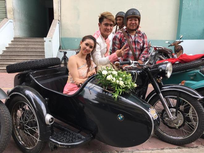 Dàn rước dâu hoành tráng, gây náo loạn phố Sài thành - Ảnh 5.