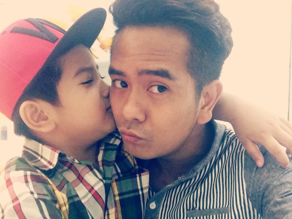 Hùng Thuận và con trai