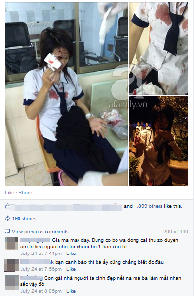 """Tranh cãi về việc """"hốt phân chó"""", một nữ sinh bị lao công đánh bê bết máu  2"""