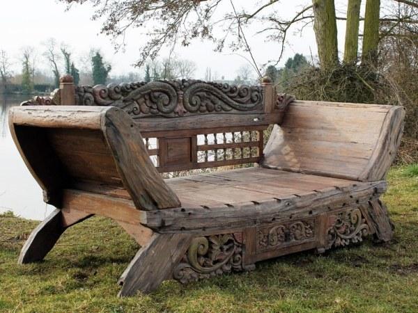 ghế gỗ sân vườn 1