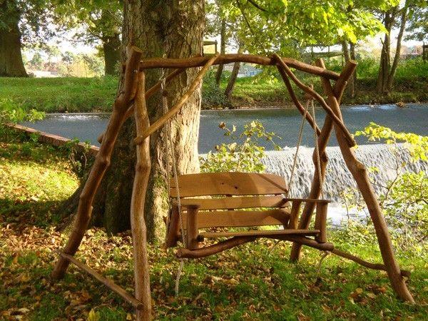 ghế gỗ sân vườn 7