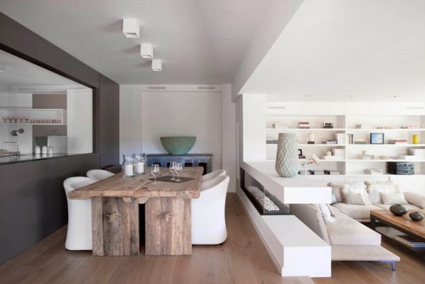 Sự kết hợp tuyệt diệu của màu trắng và chất liệu gỗ 9