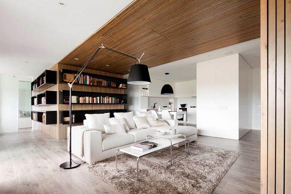 Sự kết hợp tuyệt diệu của màu trắng và chất liệu gỗ 3