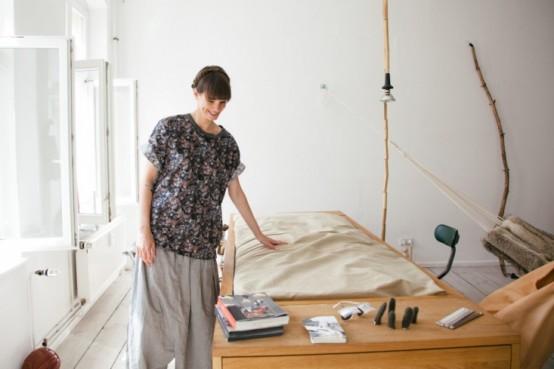 Những mẫu giường đa năng dễ đóng cho nhà chật 9