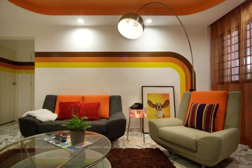 5 cách trang trí phòng khách theo xu hướng retro  4
