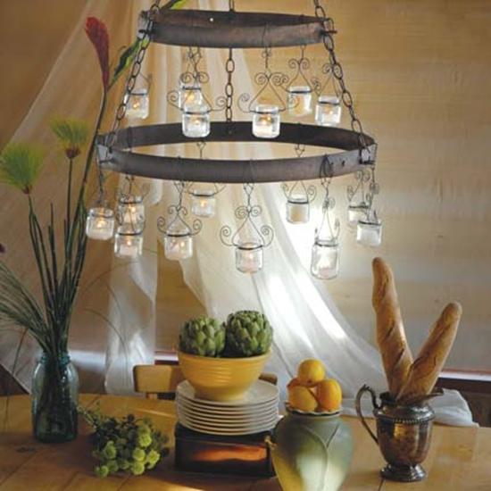 Trang trí nhà đẹp mắt bằng đèn chùm làm từ lọ thủy tinh 7