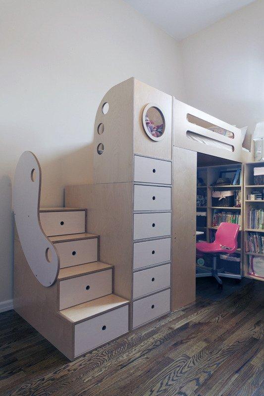 Không gian ao ước cho hai bé nhờ hệ giường đa năng 3