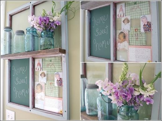 Trang trí nhà tuyệt đẹp bằng khung cửa sổ cũ 2