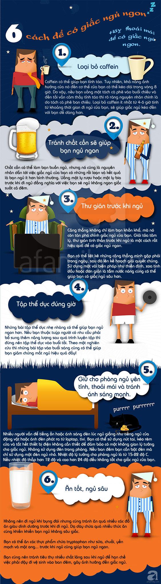 6 bí quyết tuyệt vời giúp bạn có giấc ngủ ngon 1