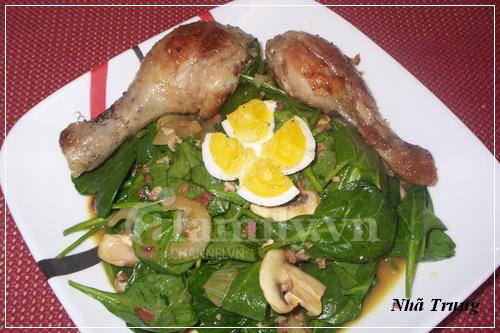 Giảm cân với salad rau chân vịt 1