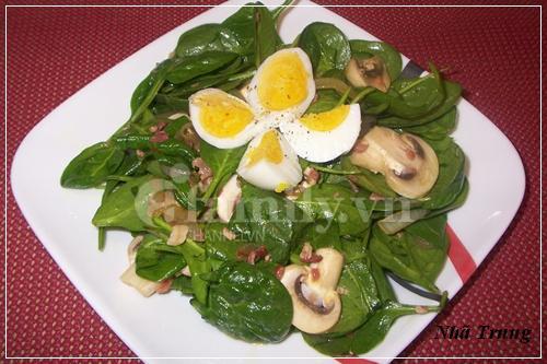 Giảm cân với salad rau chân vịt 4