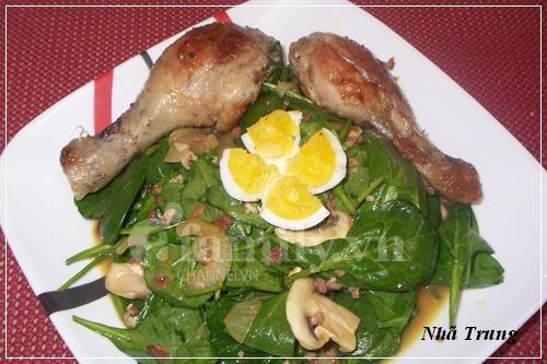 Giảm cân với salad rau chân vịt 5