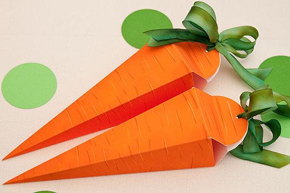 Cách gấp hộp quà nhỏ xinh hình củ cà rốt 14