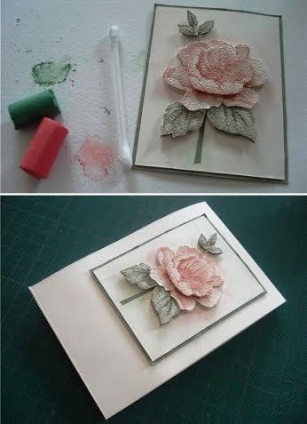 Tự làm thiệp nổi hoa hồng dễ dàng và đẹp mắt 9