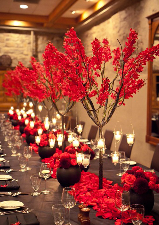 Ngất ngây với 18 mẫu lọ hoa dáng cao trong tiệc cưới 10